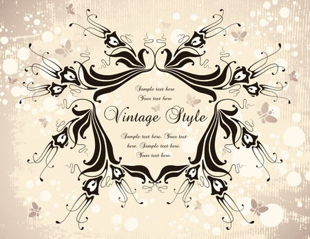 vintage fantasy frame Stock Vector - 7014904