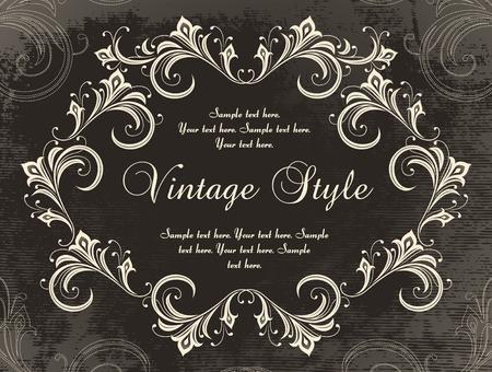 vintage velvet frame     Vector