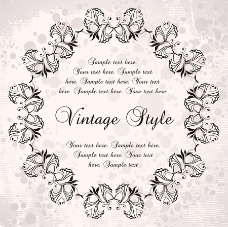 vintage wreaths Stock Vector - 7014909