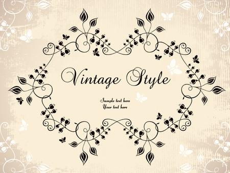 floral vintage frame Stock Vector - 7077944