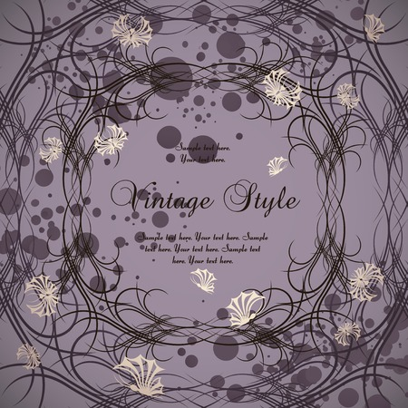 vintage frame with butterflies Stock Vector - 7373554