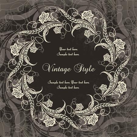 vintage wreath   Illustration