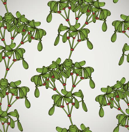 seamless pattern with mistletoe Stock Vector - 7508664