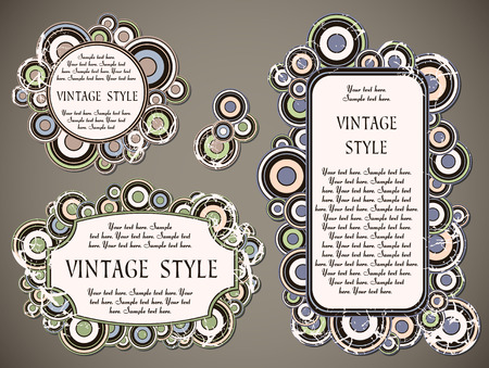 set of vintage labels   Stock Vector - 7508666