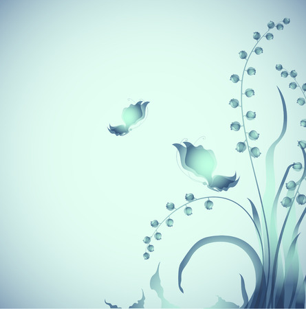 Butterflies on twilight   Vector