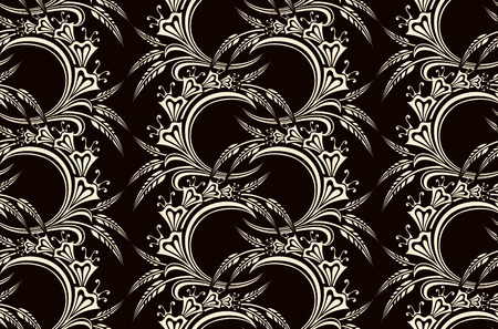 seamless floral pattern   Иллюстрация