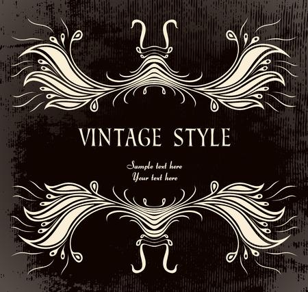 vintage frame   Stock Vector - 7879631
