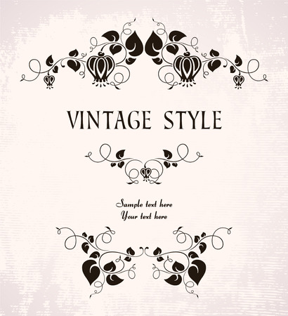 vintage frame with flowers Stock Vector - 7879627