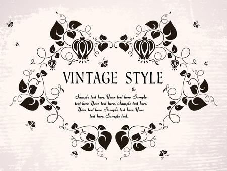 vintage frame with flowers Stock Vector - 7879635