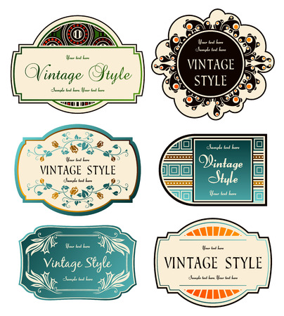 set of labels Stock Vector - 7879632