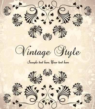 vintage background   Stock Vector - 7879665