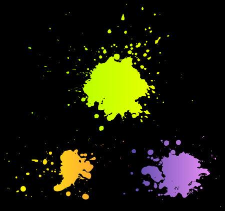 splotches: set of color blots   Illustration