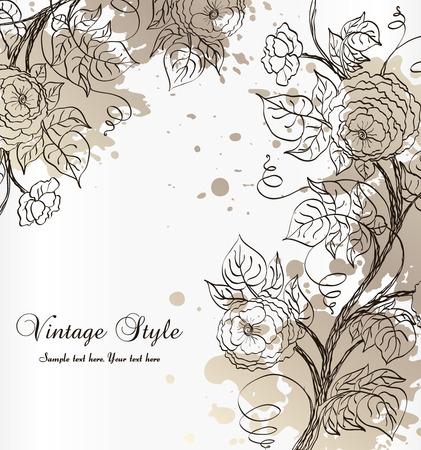 leafs: sfondo con rose