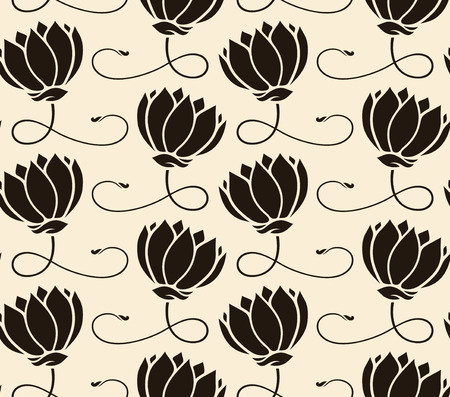 pattern seamless with lotus   Vector