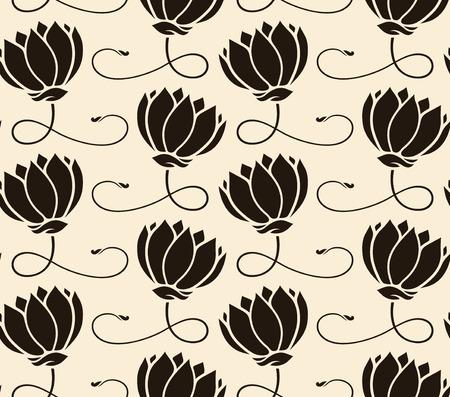 lotus flower: pattern seamless with lotus
