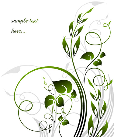 the spikes: floral background   Illustration