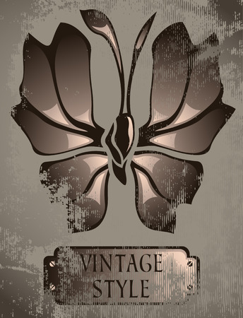 vintage card with butterflies Stock Vector - 8108198