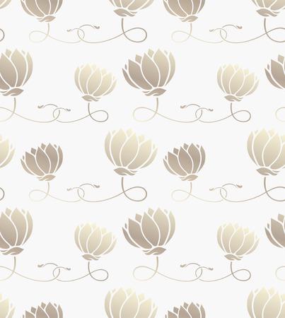 seamless pattern with lotus