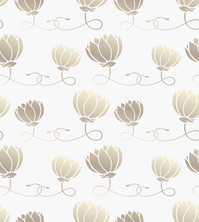 seamless pattern with lotus   Vector