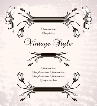 vintage frame with chamomile   Stock Vector - 8108200