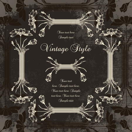 vintage frame with chamomile   Stock Vector - 8108202