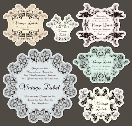 kamille: Vintage Etiketten