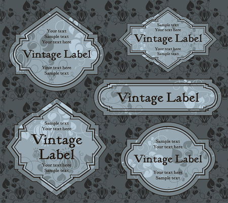 set of vintage labels   Stock Vector - 8245836