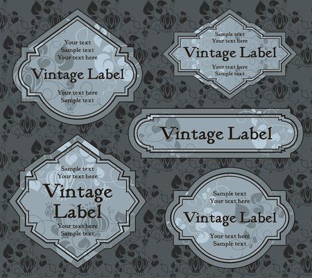 set of vintage labels Stock Vector - 8245836