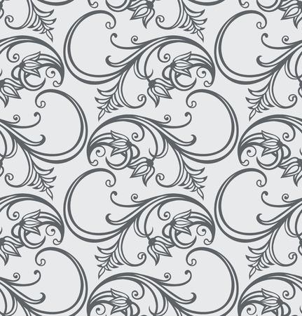 seamless floral pattern   Çizim