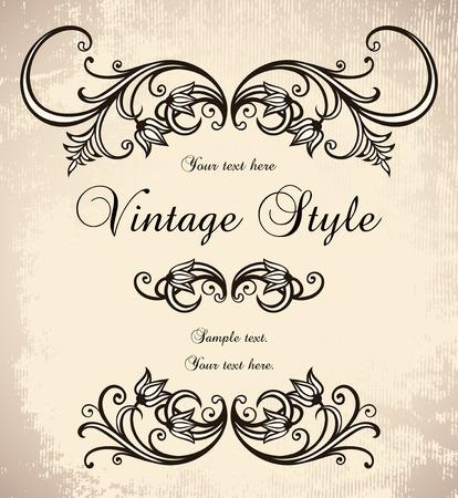 victorian: vintage frame