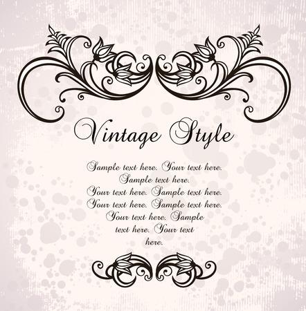 vintage frame   Stock Vector - 8245834