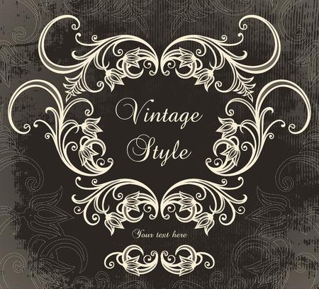 baroque frames: vintage frame