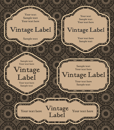 set of vintage labels   Illustration