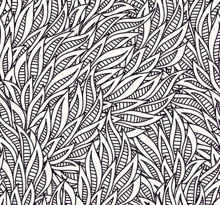 leafs: art seamless pattern   Illustration