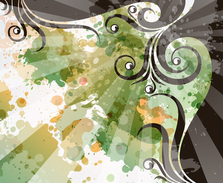 transpiration: abstract floral background   Illustration