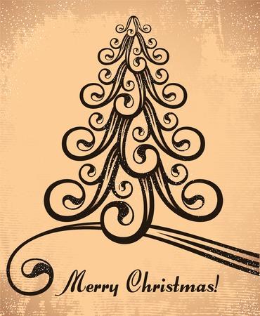 stylized christmas tree Stock Vector - 8689879