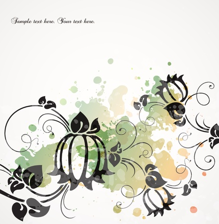 transpiration: romantic vintage background with flowers