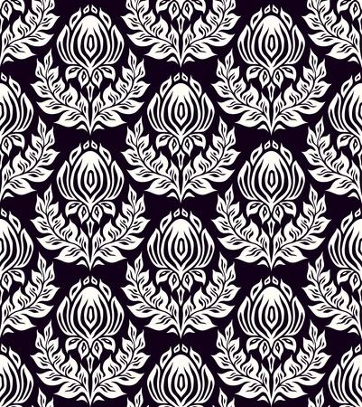 floral seamless pattern   Çizim