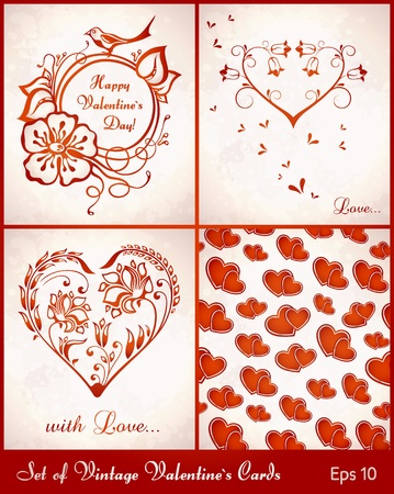 transpiration: set of valentine`s cards