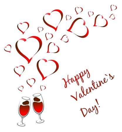 greeting valentine`s card