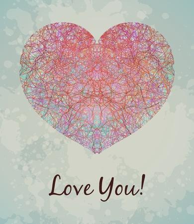 día de San Valentín `s tarjeta Ilustración de vector