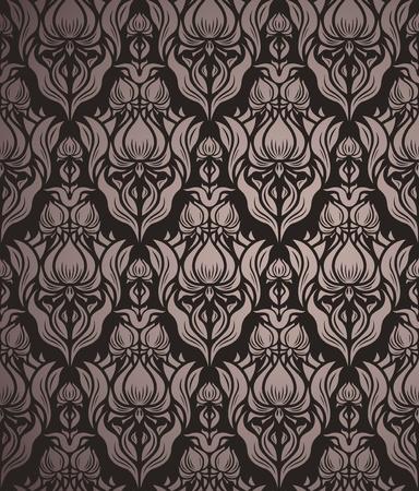 beige backgrounds: floral seamless pattern   Illustration