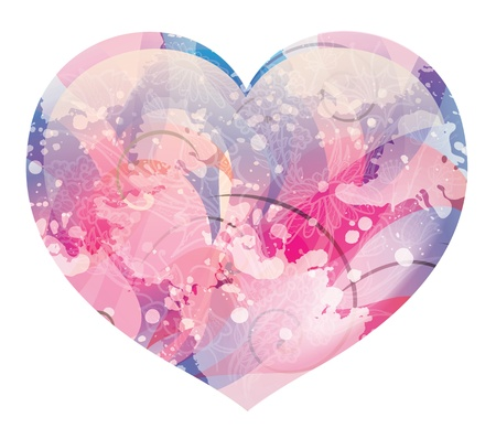 compliments: glossy heart   Illustration