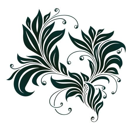 vintage floral element