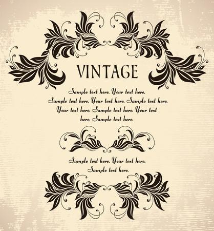 vintage invitation Stock Vector - 12304151
