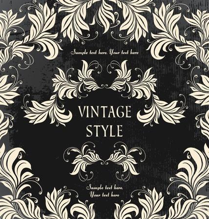 composition book: vintage floral background   Illustration