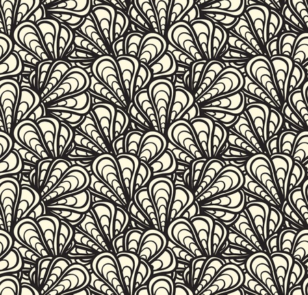 shell pattern: seamless pattern with cockleshells