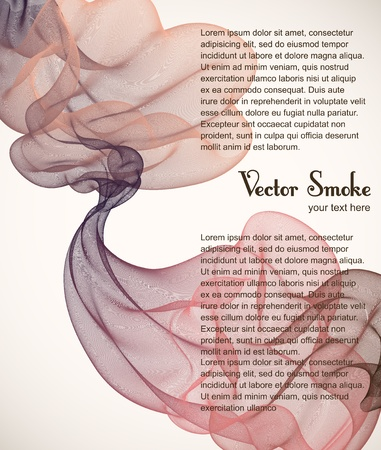 transpiration: vector smoke background