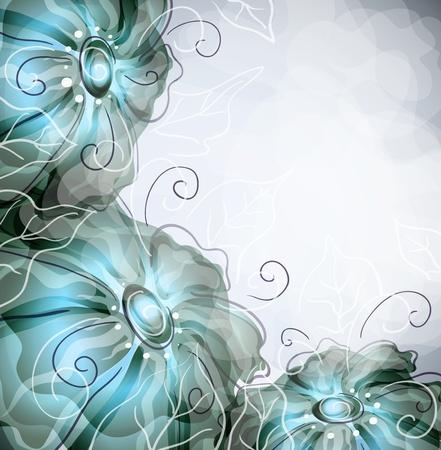 transpiration: floral background   Illustration