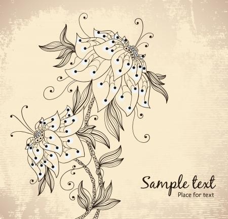 composition book: beautiful stylized peon   Illustration
